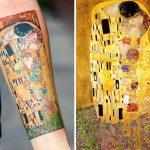 10 татуировок с изображением картин Густава Климта