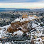 В Афинах выпал снег: акрополь выглядит сказочно