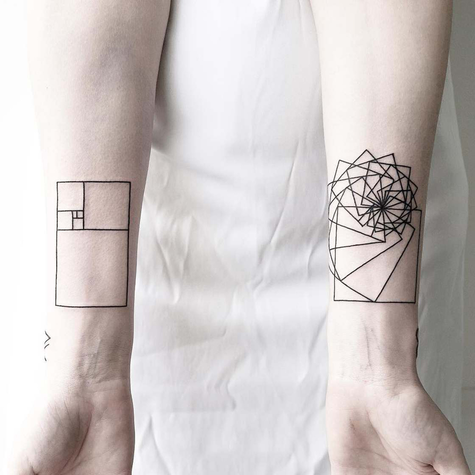 101 geometrically gorgeous minimalist tattoo ideas - 900×900