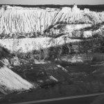 Cariera de piatră din Fetești, captată monocrom de fotograful Ion Pleș Alexandru