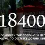 Цифра дня: сбор подписей для проведения референдума по отставке Дорина Киртоакэ