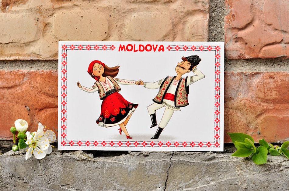 Молдавская открытка