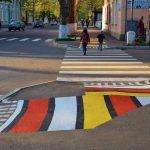 Un nou street art în Soroca: covor tradițional moldovenesc pe străzile localității