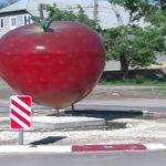 В одном из сел Молдовы установили памятник яблоку
