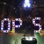 В Кишинёве десятки машин с мигалками составили надпись «Stop SIDA»