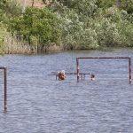 Фото дня: товарищеский матч по водному поло на берегу Днестра