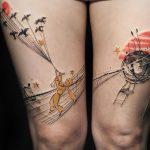 Тренд: татуировки с продолжением