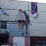 В центре Кишинева появилось новое граффити: мальчик, символизирующий поколение молодежи, рожденной в независимой Молдове
