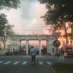 Фото дня: Республиканский стадион в огне
