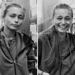 Портреты незнакомцев до и после поцелуя в фотопроекте Джоанны Сиринг