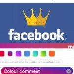 Facebook тестирует комментарии с цветным фоном
