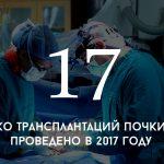 Цифра дня: сколько трансплантаций почки было проведено в 2017 году