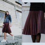Местная марка PUPI SWEET DRESS показала лукбук юбок из экокожи