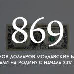 Цифра дня: сколько денег молдавские мигранты перечислили на родину с начала 2017 года