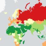 На «алкогольной» карте мира Молдова окрашена красным цветом