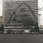 В Кишиневе в здании заброшенной гостиницы «Националь» вспыхнул пожар