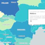 Румыния оказалась более верующей страной, чем Молдова