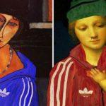 Герои знаменитых картин в виде гопников в картинах Росса Муара