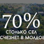 Цифра дня: Сколько сел исчезнет в Молдове