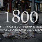 Цифра дня: какой штраф предусмотрен в Кишиневе за выброс мусора в общественных местах