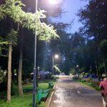 В парке «Рышкановка» появилось уличное освещение