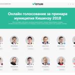 Появился сайт, где можно онлайн «проголосовать» за примара Кишинёва