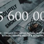 Цифра дня: На какую сумму было выписано штрафов за курение в общественных местах в Молдове