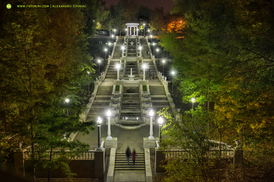 Каскадная лестница в парке Valea Morilor